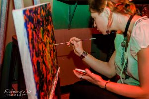 Kate Bopp doing Live Art with Uniting Souls Project